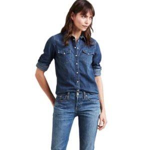 Levi's Western Denim long sleeve shirt Large